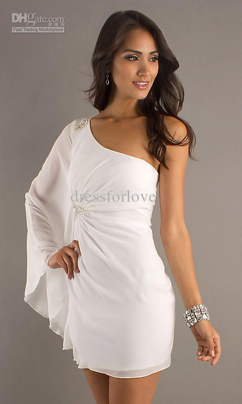 white party dress party dresses white AMIBWEU