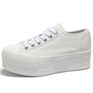 white platform sneakers amazon.com: womenu0027s white simple canvas platform sneakers low top trainers:  shoes NDOXBUW