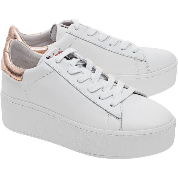 white platform sneakers ash cult white rame // calf leather plateau-sneakers (10.365 rub) ❤ KHQBRTH