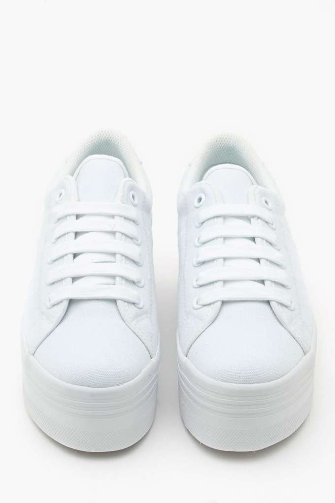 white platform sneakers zomg platform sneaker - white at nasty gal JIPPJEG