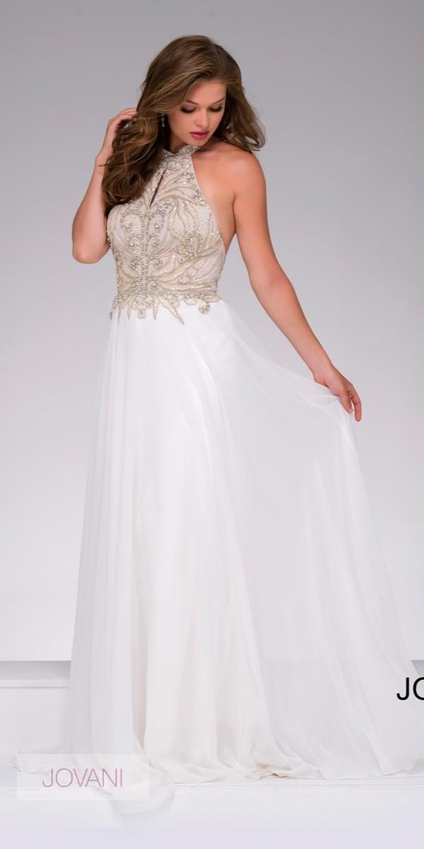 white prom dresses jovani 41594 prom dress - jovani - 41594 MBCJIMM