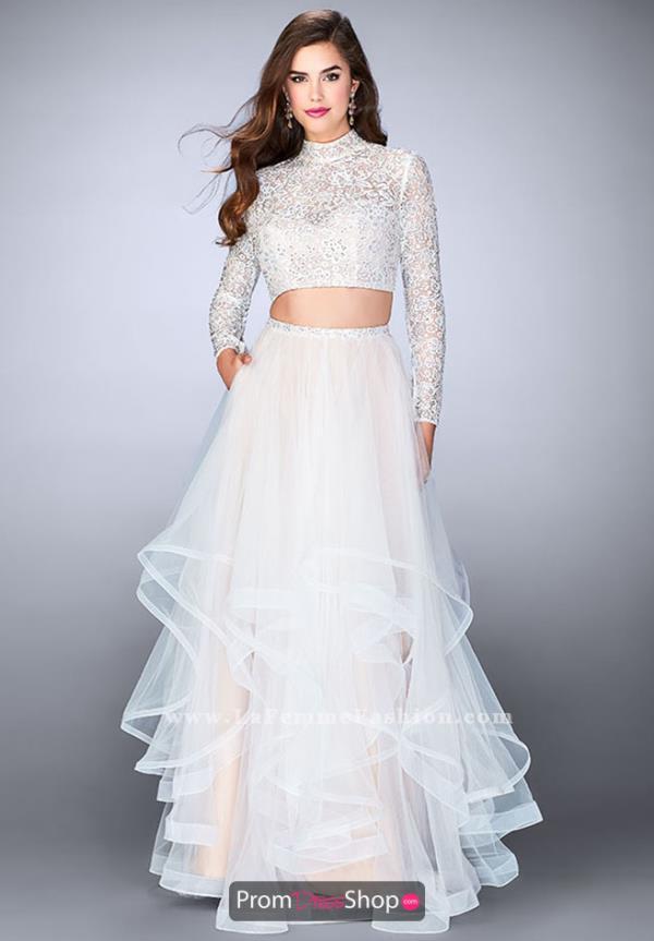white prom dresses la femme lace a line dress 23924 NFIZQRK