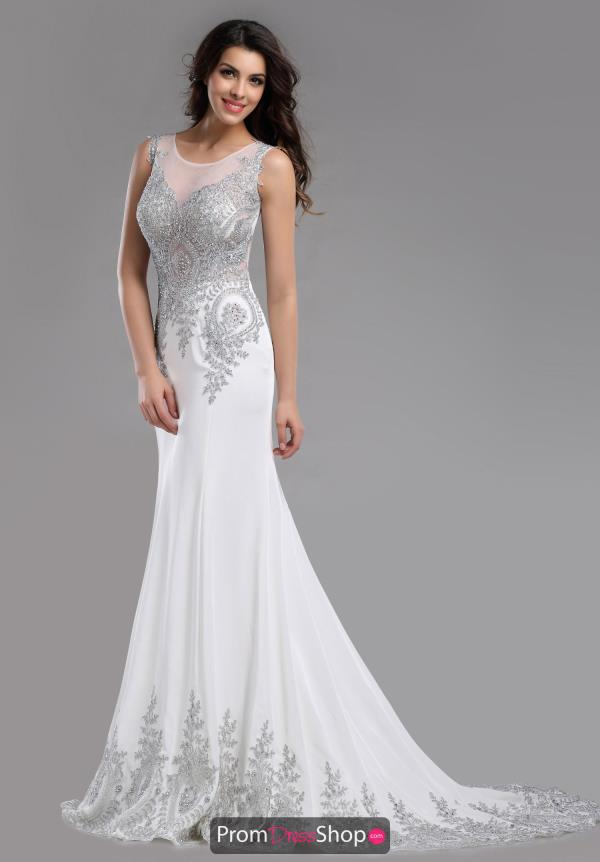 white prom dresses romance couture elegant fitted dress rm5049 CGEJLVF