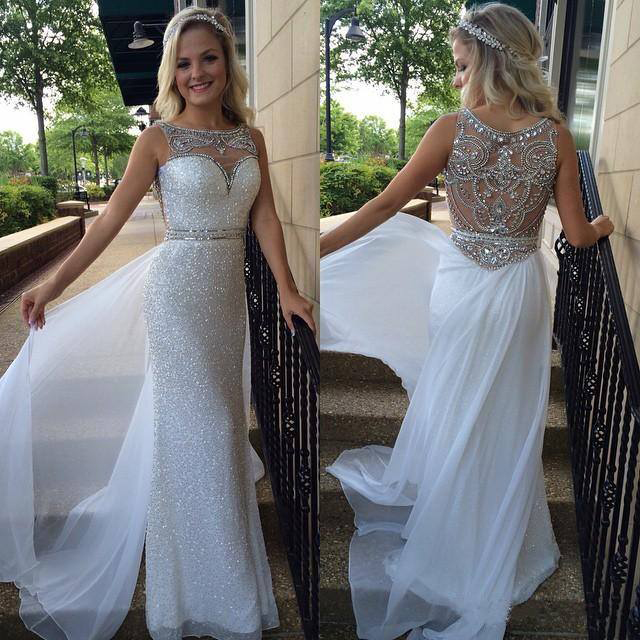 white prom dresses, sequin prom dresses, see through prom dresses, prom  dresses shop NPNPYIM