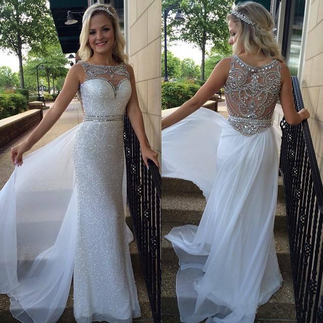 white prom dresses, sequin prom dresses, see through prom dresses, prom  dresses shop NPNPYIM