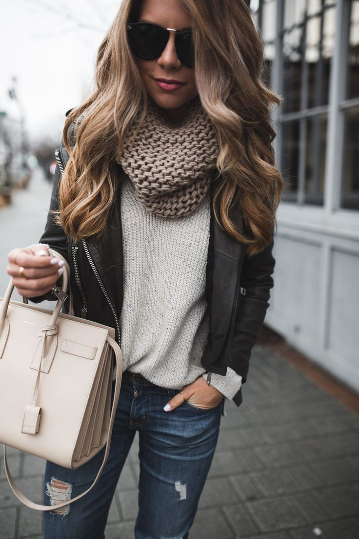 winter outfits chunky scarf with jacket · outfit winterfall ... OASSGXK