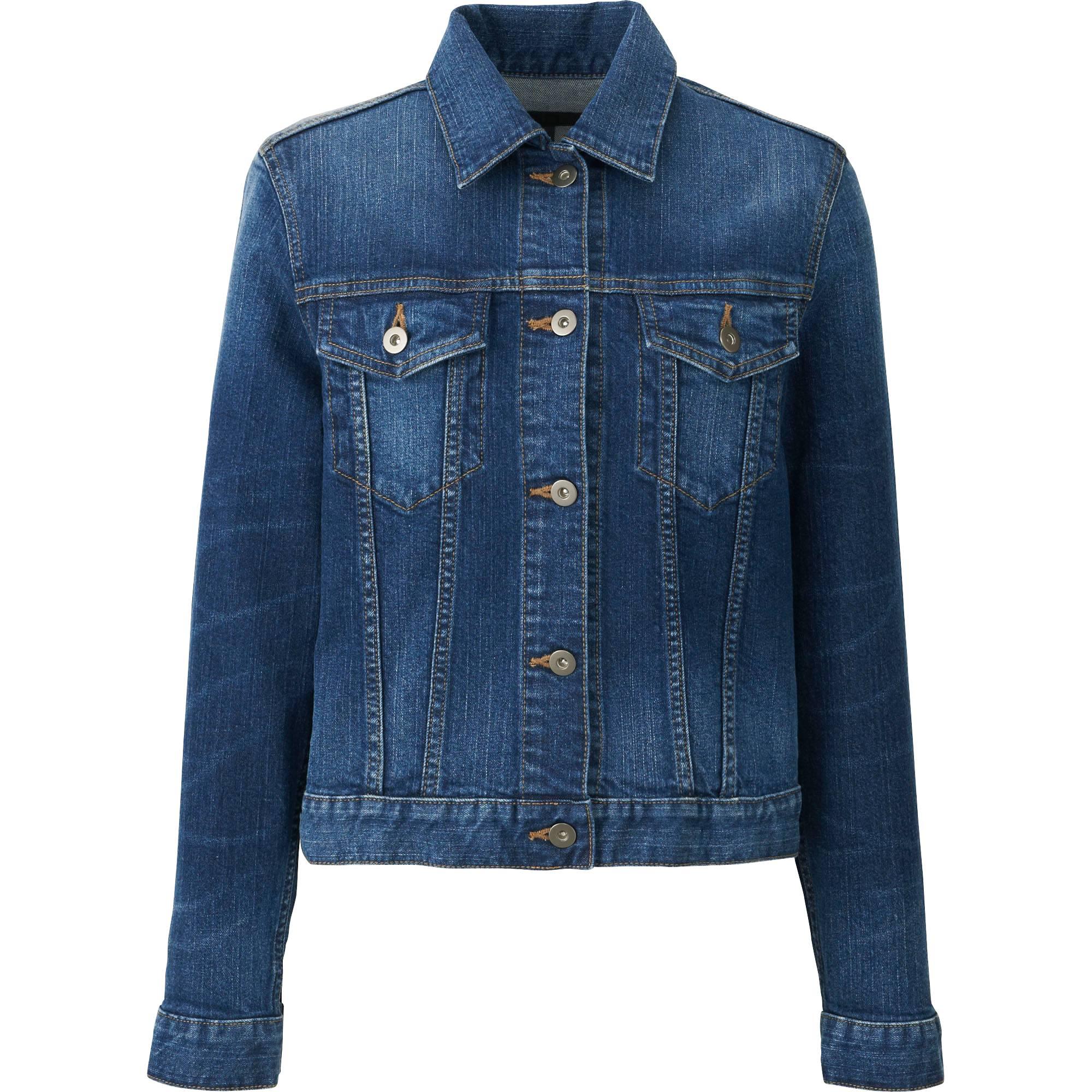 women denim jacket, blue, small VGURPRN