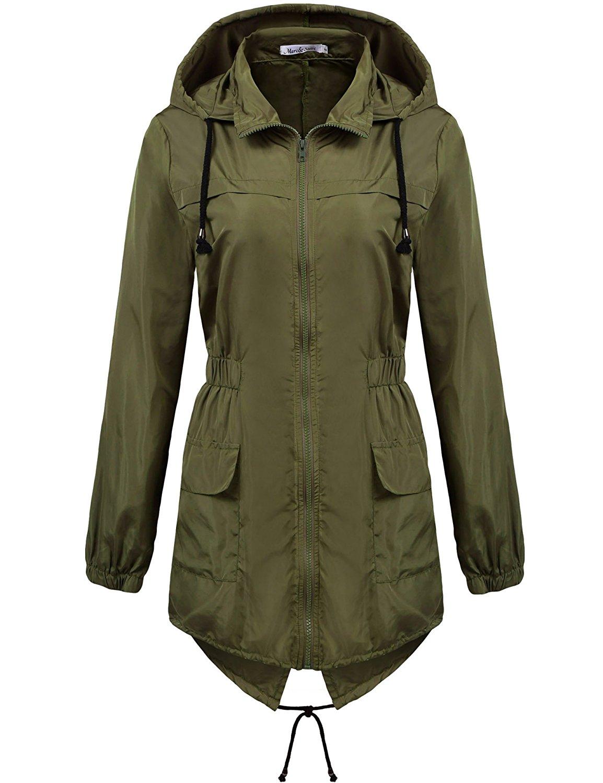 womens coat womens lightweight hooded waterproof active outdoor rain jacket YBPBAJB