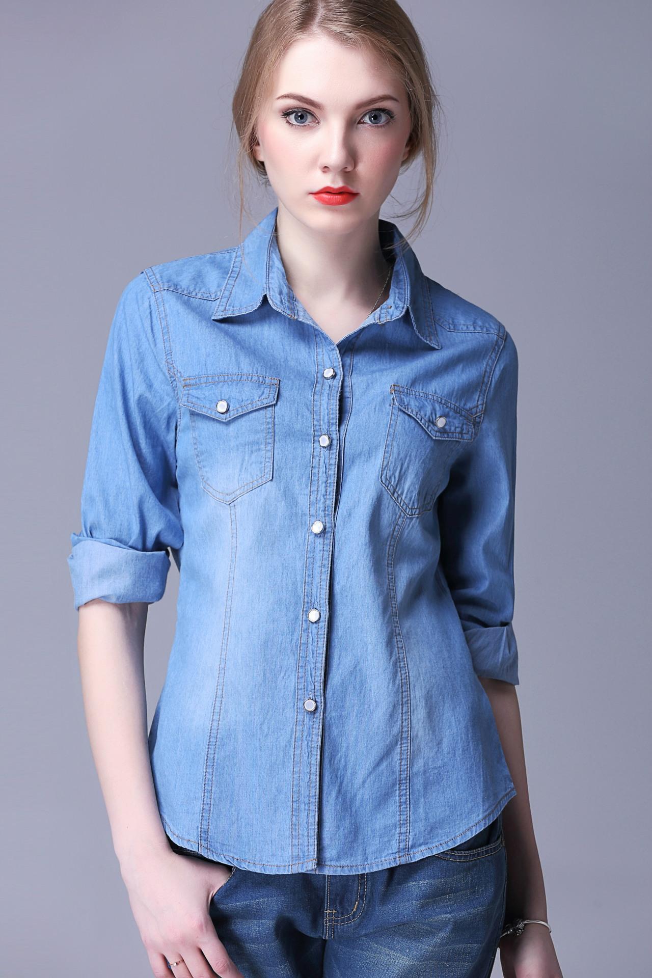 Appealing women denim shirts