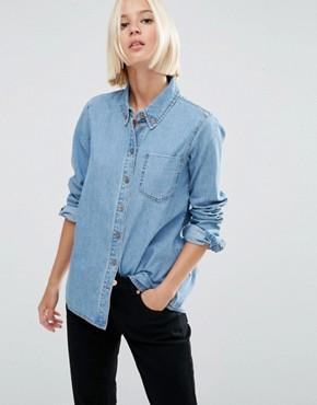 womens denim shirt womenu0027s denim u0026 chambray shirts | asos PPUWLHX
