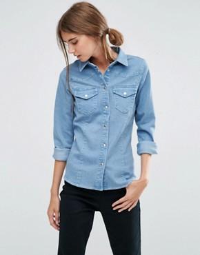 womens denim shirt womenu0027s denim u0026 chambray shirts | asos SGADMRP