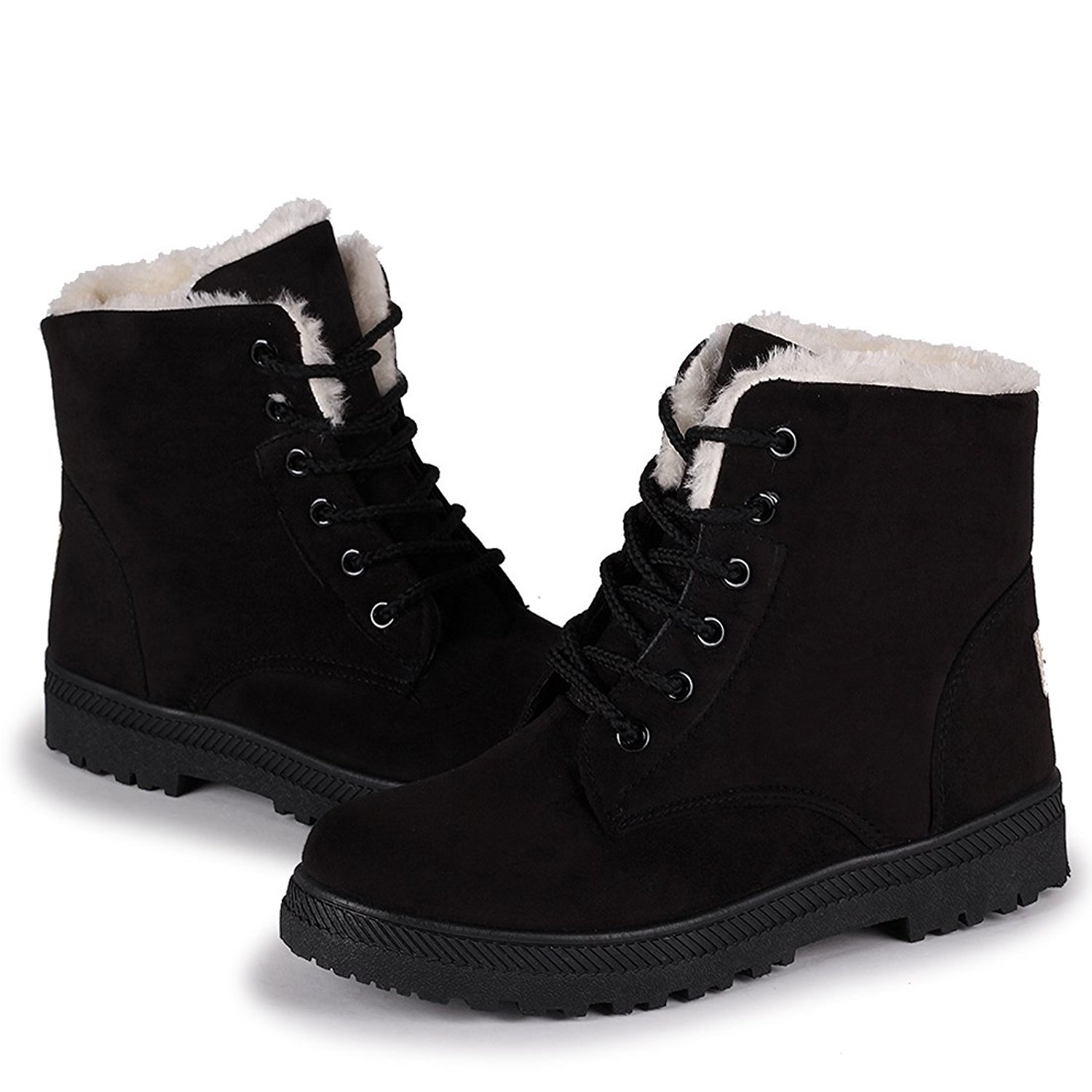 womens winter boots amazon.com | susanny suede flat platform sneaker shoes plus velvet winter  womenu0027s lace up UYZTPWM