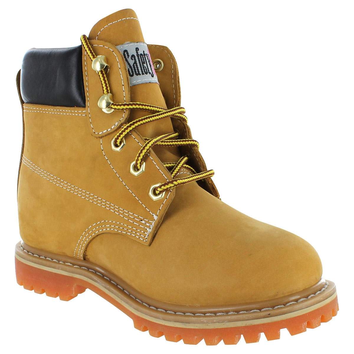 work boots for women safety girl ii sheepskin lined work boots - tan FSRXAPO