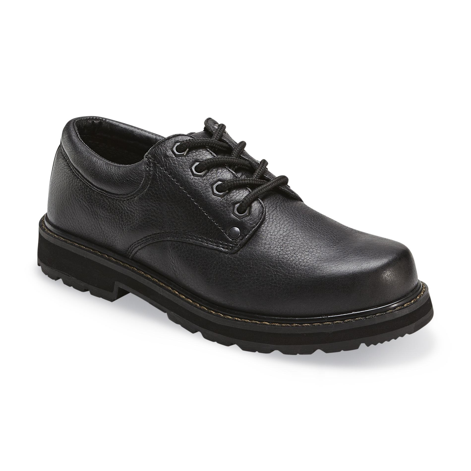 work shoes dr. schollu0027s menu0027s harrington slip resistant work shoe wide width available  - black HKZUPTR