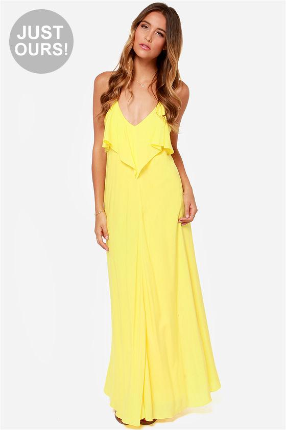 yellow maxi dress cute yellow dress - maxi dress - $45.00 MIRLRQG