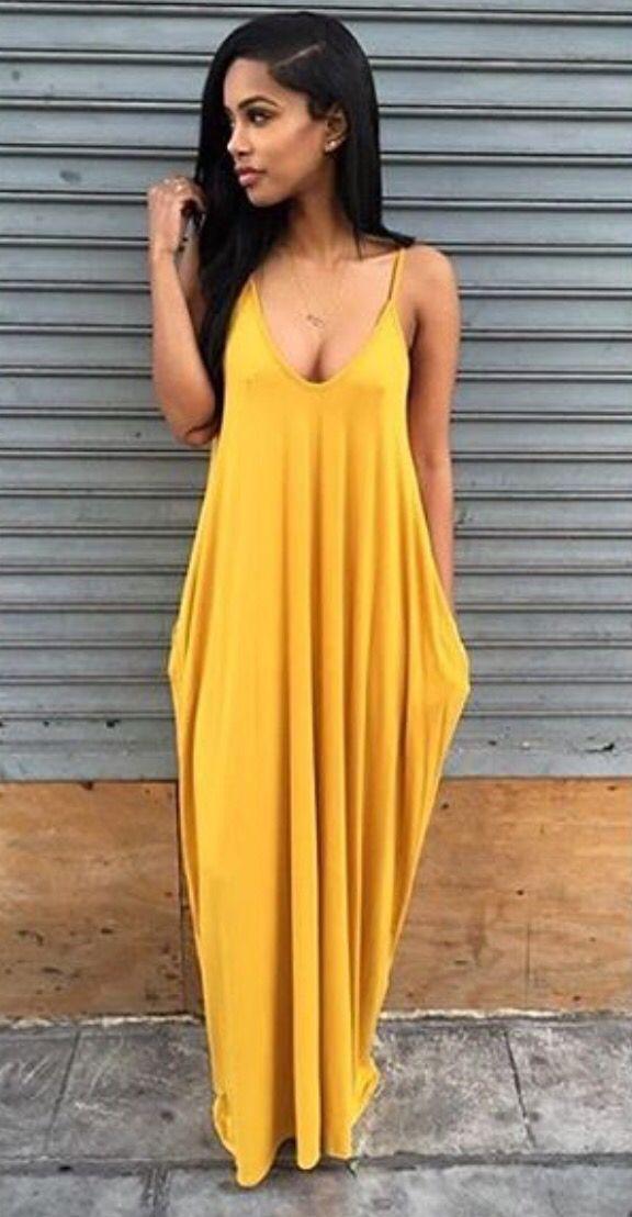 yellow maxi dress iu0027d belt it with an olive waist belt YNEJLVS