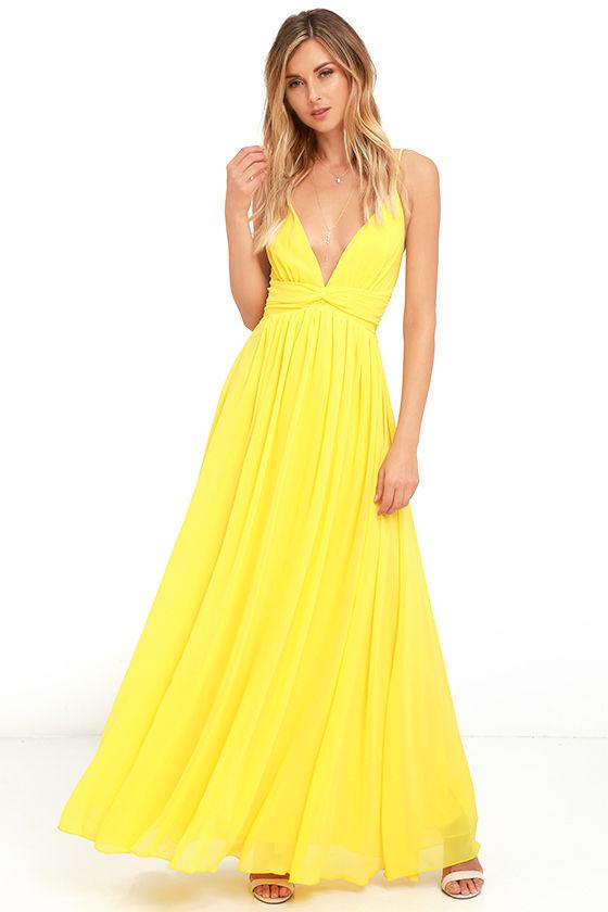 yellow maxi dress lovely yellow dress - maxi dress - bridesmaid dress - formal dress - $126.00 PQRXRDY
