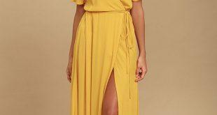 yellow maxi dress much obliged golden yellow wrap maxi dress 1 BFRMDMP