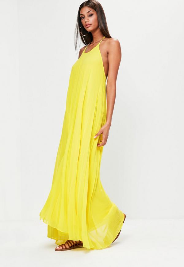 yellow maxi dress yellow pleated maxi dress. $67.00. previous next CAPOWIU