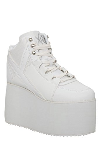 yru qozmo hi-white platform sneakers INTCOQU