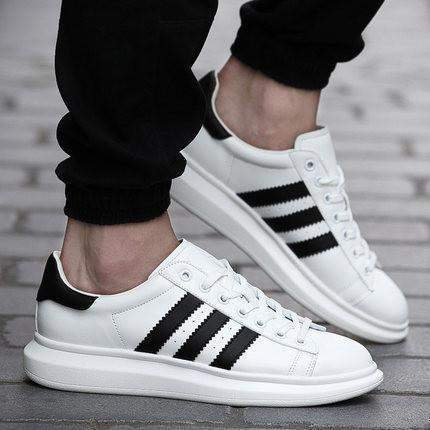 casual breathable sneakers shoes for men, black, white-shoes-mens shoes- HYXZVVT