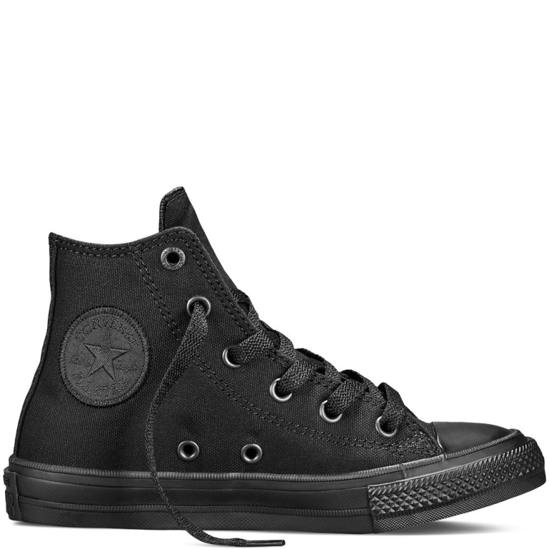 Girls Converse Shoes converse chuck taylor all star ii yth/jr high top shoes girls black mono, SASFLYG