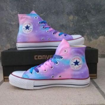Girls Converse Shoes dcck1in painted shoes converse gradient sky hand painted shoes g BDBSKJE