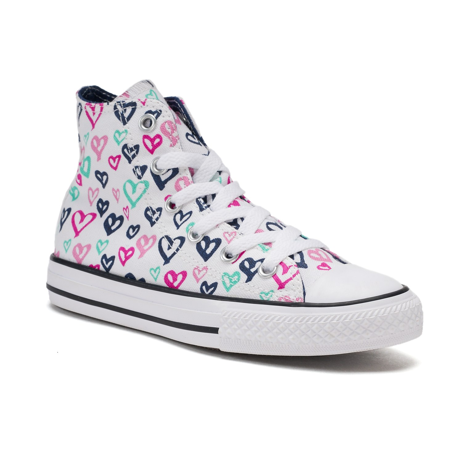 Girls Converse Shoes girlsu0027 converse chuck taylor all star print high top sneakers MDKFTJW