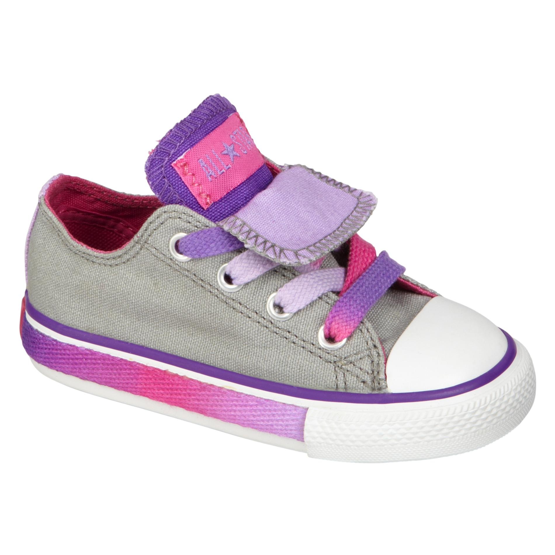 Girls Converse Shoes toddler girlsu0027 double tongue grey converse: rainbow color from sears RICJOSR
