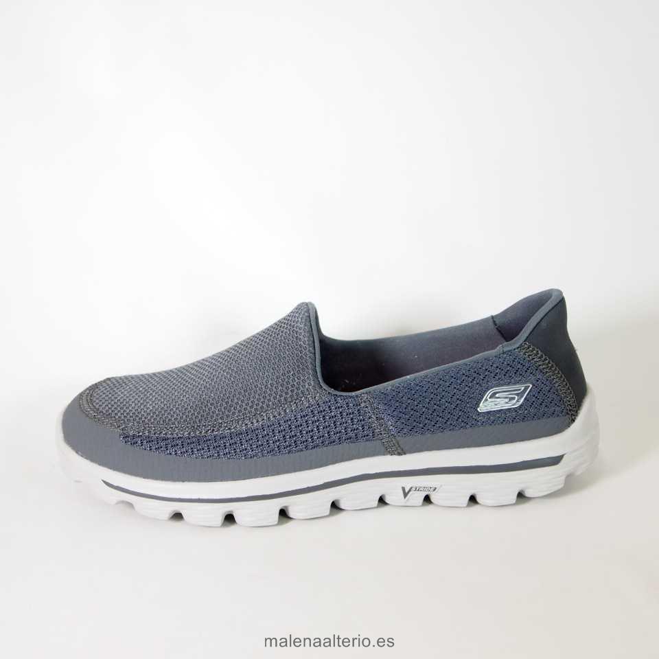 liquidación de precio hombre zapatos skechers go walk 2 53590 gris,calzado  de FSOMCNS