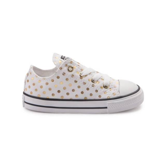 new toddler converse chuck taylor all star lo dots sneaker white gold baby YUBRFAE