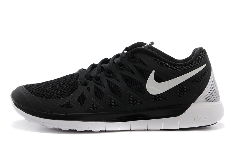 Nike Free Black shoes nike free 5.0 2014 mens black white running shoes ... QPEAHXA