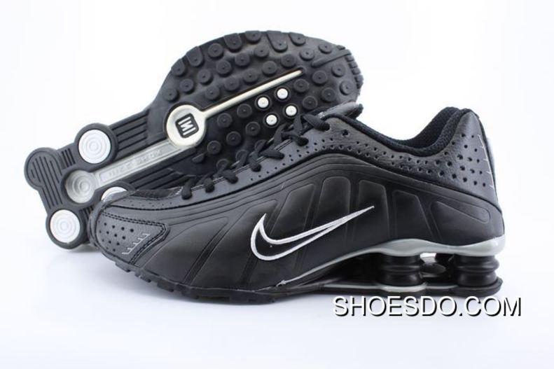nike shox r4 black white logo shoes new style NQAWXER
