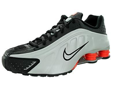 nike shox r4 nike menu0027s shox r4 black/mtllc slvr/mx orng/mtllc s running shoe QQEUBAY
