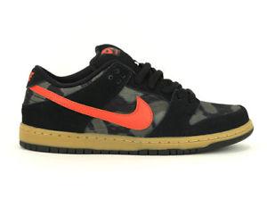 nike skate shoes image is loading nike-sb-skate-shoes-dunk-low-premium-black- PZRVHXD