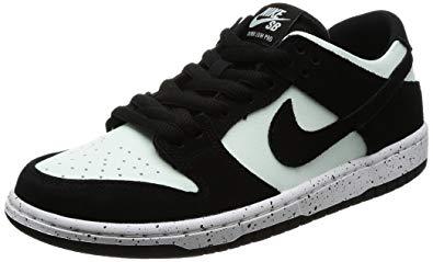 nike skate shoes nike menu0027s sb zoom dunk low pro, black/black-barely green-white VTOGIAP