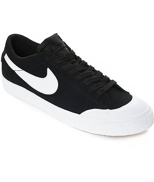 nike skate shoes nike sb blazer xt low black u0026 white suede skate shoes ... URHJQHB
