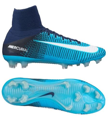 Nike soccer cleats nike mercurial superfly v fg soccer cleats blue-white WTISJWQ