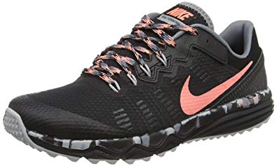 nike trail running shoes nike womenu0027s dual fusion 2 trail running shoe, black/atomic pink/cool grey VAQIKPK