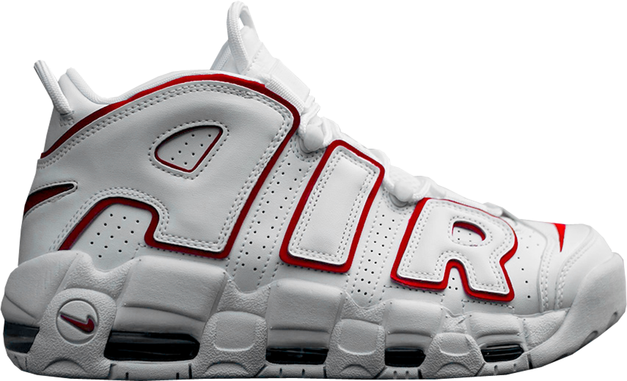 nike uptempo air more uptempo white varsity red outline ZOWGFGA