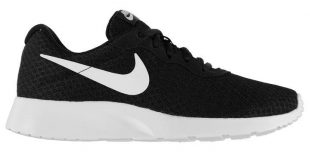 nike womens trainers nike tanjun trainers ladies black/white product code: 274001 GMIZNBV