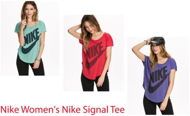 nike workout clothes shirt, nike, nike womens signal tee, signal tee, nike fitneess, nike  fitness, LCMYZHM