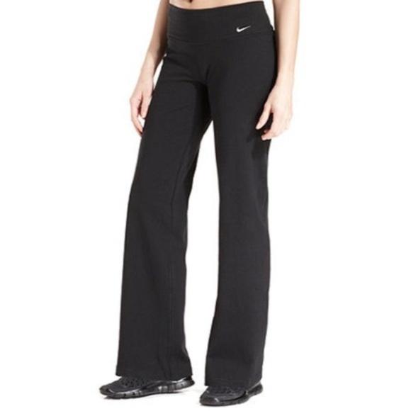 nike yoga pants nike fit dry black flare yoga pants xs ZLDAQZH