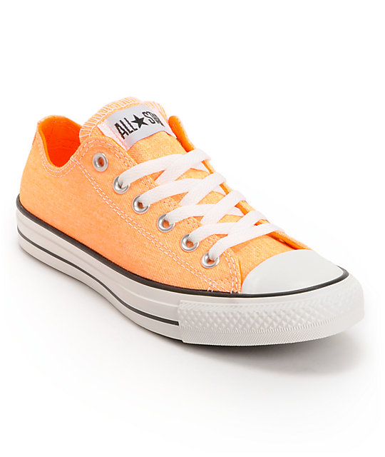 orange converse converse chuck taylor all star washed neon orange shoes ... XBZWYPB