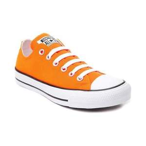 orange converse image is loading new-converse-chuck-taylor-all-star-lo-sneaker- EEMVUQQ