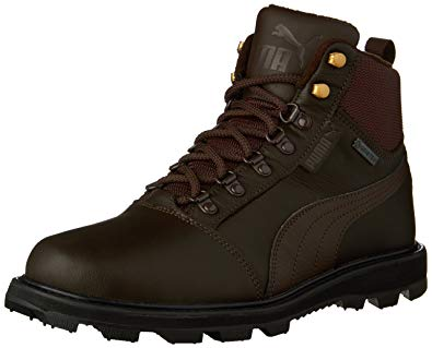 puma boots puma menu0027s tatau fur boot gtx chocolate brown/chocolate brown boot 5.5 d (m NTQHSEO