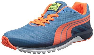 puma faas 300 puma menu0027s faas 300 v3 running shoe,metallic blue/insignia blue/fluorescent  peach SEGLEEQ