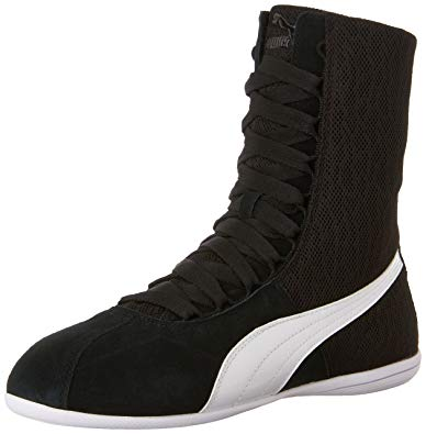 puma high tops puma womenu0027s eskiva hi textured black sneaker 8 b ... JWYYMPC