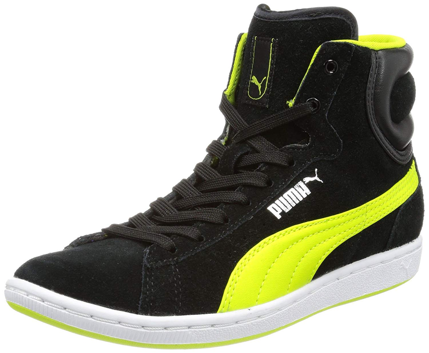 puma high tops puma womens cross shot wnu0027s hi-top sneakers: amazon.co.uk: shoes u0026 bags PJYILBE