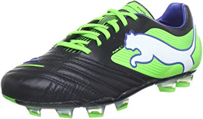 puma powercat 1 fg mens leather soccer boots/cleats-black-8.5 QBEKCEJ
